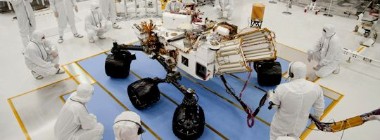 The Real Mars Curiosity Rover prior to leaving Earth