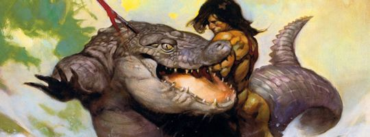 Monster Out of Time by Frank Frazetta