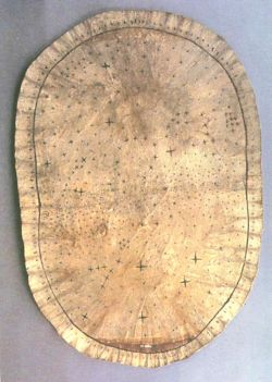Skidi Pawnee Starmap on elk skin c. 1700.