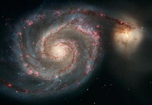 The interesting thing about M51 is the handsome satellite galaxy and the bridge connecting them.