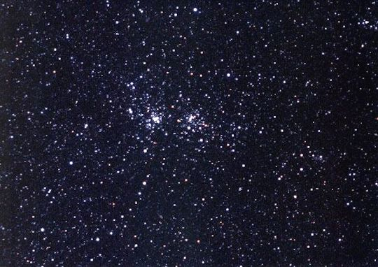 The Double Cluster in Perseus, NGC 869 and NGC 884. Photo by Brad Snowder.