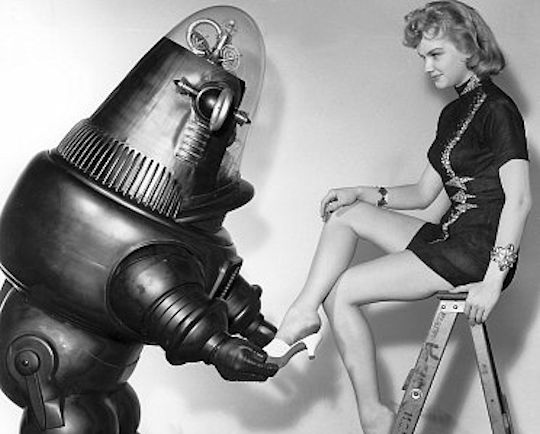 The robot had a respectable career path in shoe sales.