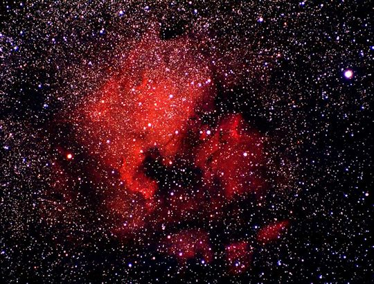 Very large diffuse nebula, better for photography than casual viewing.