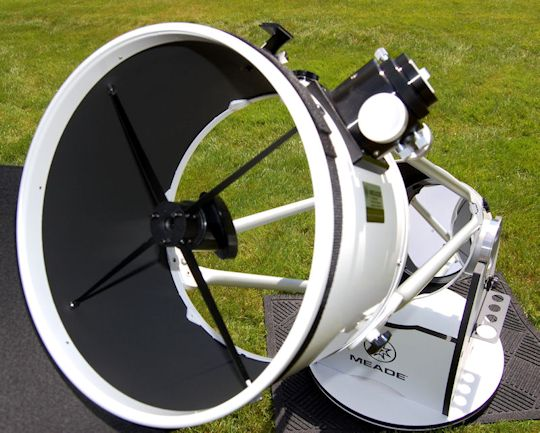 A simple, rugged, and elegant dobsonian telescope.