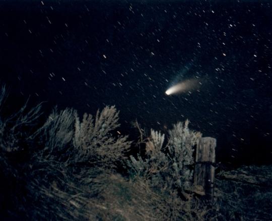 Comet Halebopp and Sagebrush - photo by Brad Snowder
