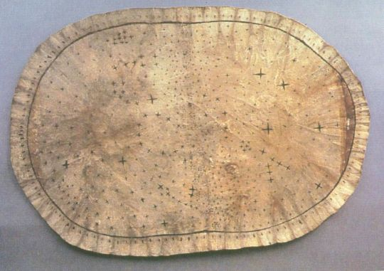 Skidi Pawnee Star Map with Corona Borealis in the center.